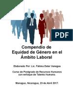 Compendio de Las Normas de Equidad de Genero en Nicaragua