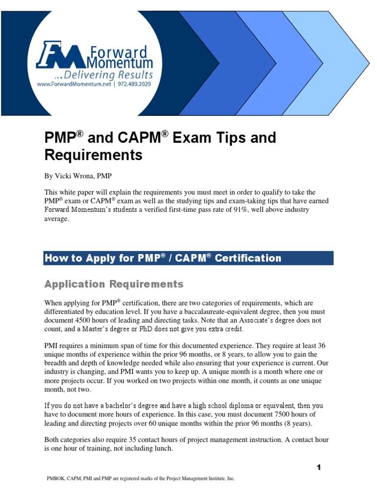 Pmp capm exam tips 5th v11pdf academic degree test assessment 1betcityfo Images