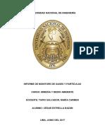 Informe Monitoreo de Gases y Partículas