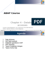 ABAP Course - Chapter 4 Database Accesses