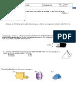 Examen Cuerpos Geométricos 3 ESO