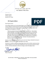 Sample Sewer Charge Letter
