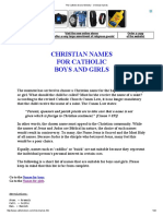 The Catholic Doors Ministry - Christian Names