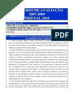Capes Direito Relatório de Avaliação Final Dez10