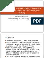 Karakteristik Klinis Dan Patologis Karsinoma Nasofaring Di Bagian