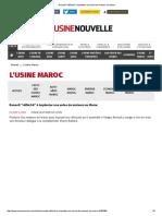 Renault _réfléchit_ à Implanter Une Usine de Moteurs Au Maroc