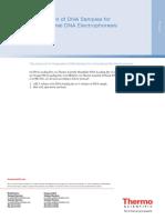 Preparation of DNA Samples for Conventional DNA Electrophoresis