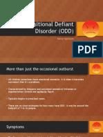 oppositional defiant disorder  odd