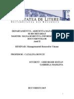 Managementul Resurselor Umane Seminar an II 1