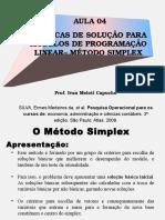 Aula 04 _ Programação Linear_Simplex PARTE 01