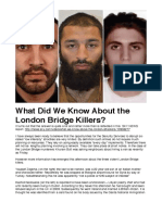 What Did We Know About the London Bridge Killers?