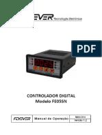 ⭐CONTROLADOR DIGITAL Modelo FE05SN. Manual de Operação. MAN 014 Versão 1