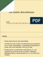 Textos discontinuos