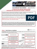 Jeep TJ/LJ MetalCloak Front Fender Installation Instructions