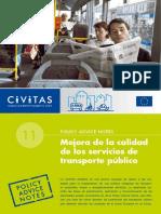 Civitas II Policy Advice Notes 11 Public Transport Quality Es