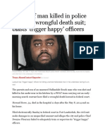 Family of Man Killed in Police Raid Files Wrongful Death Suit 5.10.16