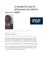 Settlement Reached in Case of Broward Jail Inmate Who Died at Half His Weight 8.25.15