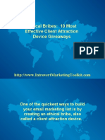 10 Most Effective Client Attraction Device Giveaways