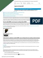 Portátiles HP - Resolución de problemas de imagen y sonido con HDMI (Windows10, 8, 7) _ Soporte al cliente de HP®