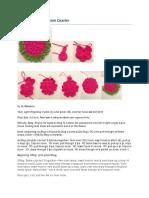 Crochet Cherry Blossom Coaster