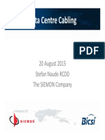 5. BICSI NG 15 Data Center Cabling Stefan Naude
