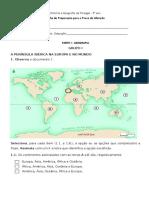 Ficha de Preparação Prova de Aferição HGP