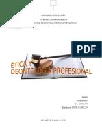 ensayo etica y deontologia profesional