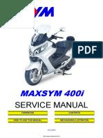 Sym Maxsym 400i Service Manual English