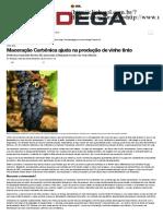 Maceração Carbônica Ajuda Na Produção de Vinho Tinto · Revista Adega