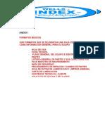 Formatos Basicos de Mantenimiento