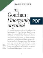 Stiegler - Leroi-gourhan - l'inorganique organisé