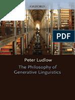 Peter Ludlow-The Philosophy of Generative Linguistics-Oxford University Press (2011)