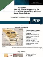 SPE Western Regional Meeting presentation 2017 - Reservoir Characterization of Bakken Formation