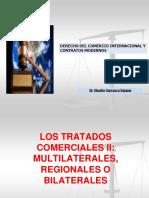 Los tratados comerciales, bilaterales, multilaterales y regionales