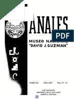 Anales Del Museo David J. Guzman No 37-41 (1)