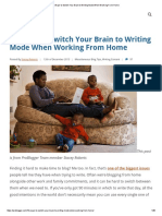 10 Ways to Switch Your Brain to Writing Mode When Working From Home