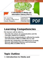 1. Introduction to MIL (Part 1)- Communication, Media, Information, And Technology Literacy