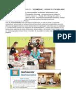 Vocabulario Restaurante en Ingles –Vocabulary Lesson 70