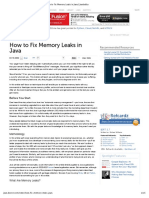 How to Fix Memory Leaks in Java _ Javalobby
