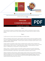 Pravilnik o Vozackim Dozvolama 2010