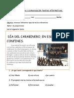 Guía Lenguaje y Comunicación Textos Informativos
