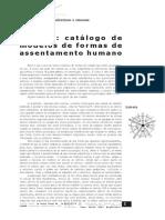 LYNCH - Catálogo de Modelos de Formas de Assentamento Humano