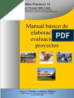 Manual  Elaboracion y Evaluacion Proyectos