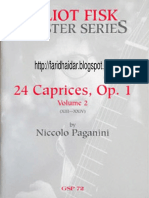 Eliot Fisk 24 Caprices Paganini Vol.2