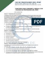 CRITERIOS DE CALIFICACIÓN - MEDALLA DE HONOR CPPe