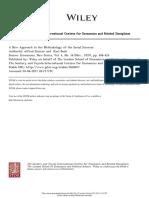 Un Nueva Aproximación a La Metodología de Las Ciencias Sociales - Alfred Stonier y Karl Bode