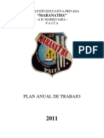 Plan Anual de Trabajo 2011 Copy