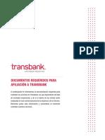 Docs Requeridos Para Afiliacion a Transbank