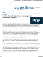 Jornal do Brasil - Rio - No Rio, alunos do Ciep Nelson Mandela prestam homenagem ao patrono.pdf