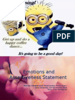 Emotions and Assertiveness Statement